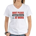 Patent Attorney Work Women's V-Neck T-Shirt