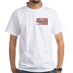 Patent Attorney Work White T-Shirt