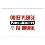 Patent Attorney Work Large Poster