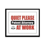 Patent Attorney Work Framed Panel Print