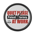 Patent Attorney Work Large Wall Clock