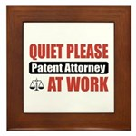 Patent Attorney Work Framed Tile