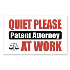 Patent Attorney Work Rectangle Decal