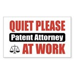 Patent Attorney Work Rectangle Sticker 10 pk)