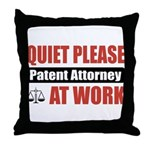 Patent Attorney Work Throw Pillow