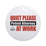 Patent Attorney Work Ornament (Round)