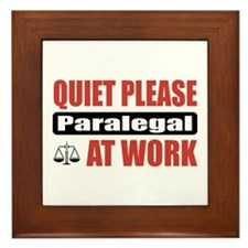 Paralegal Work Framed Tile