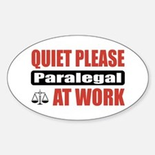 Paralegal Work Oval Decal