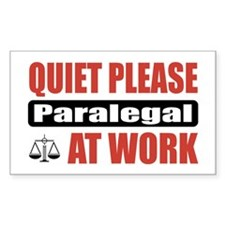 Paralegal Work Rectangle Decal
