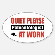 Paleontologist Work Oval Decal
