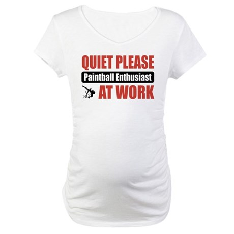 Paintball Enthusiast Work Maternity T-Shirt