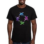 4 Geckos 4 Men's Fitted T-Shirt (dark)