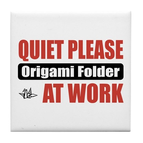 Origami Folder Work Tile Coaster