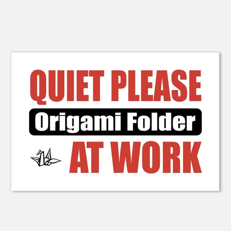 Origami Folder Work Postcards (Package of 8)