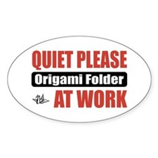 Origami Folder Work Oval Decal