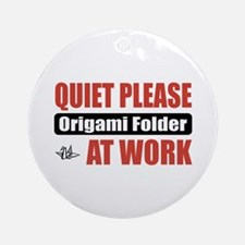 Origami Folder Work Ornament (Round)