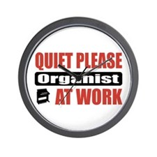 Organist Work Wall Clock