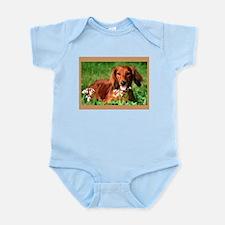 Red Long Infant Bodysuit