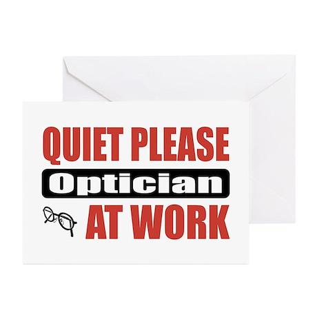 Optician Work Greeting Cards (Pk of 10)
