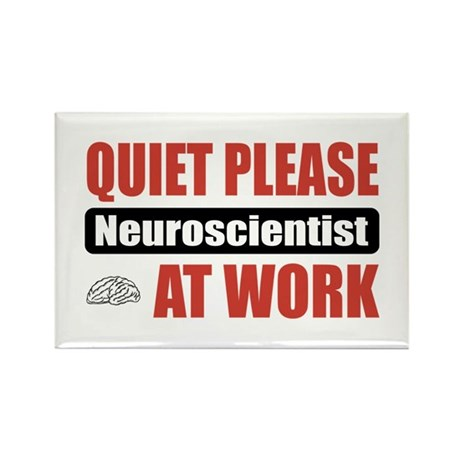 Neuroscientist Work Rectangle Magnet (100 pack)