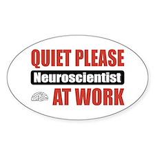 Neuroscientist Work Oval Sticker (10 pk)