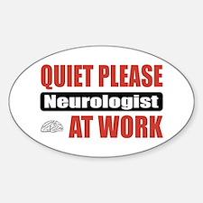 Neurologist Work Oval Decal