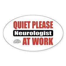 Neurologist Work Oval Sticker (50 pk)
