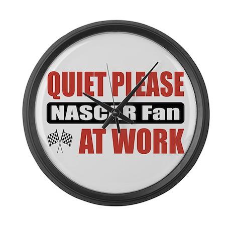 NASCAR Fan Work Large Wall Clock