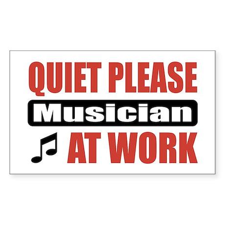 Musician Work Rectangle Sticker