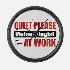 Meteorologist Work Large Wall Clock