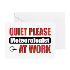 Meteorologist Work Greeting Card