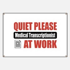 Medical Transcriptionist Work Banner