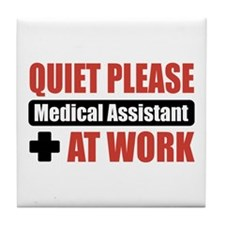 Medical Assistant Work Tile Coaster