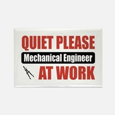 Mechanical Engineer Work Rectangle Magnet