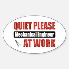 Mechanical Engineer Work Oval Bumper Stickers