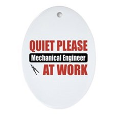Mechanical Engineer Work Oval Ornament