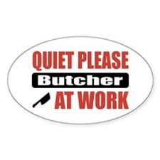 Butcher Work Oval Decal