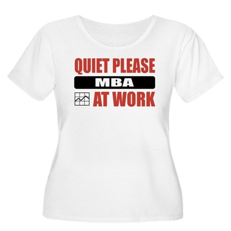 MBA Work Women's Plus Size Scoop Neck T-Shirt