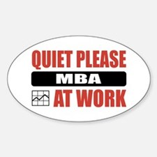 MBA Work Oval Decal