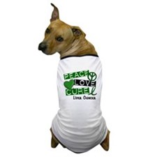 PEACE LOVE CURE LIVER CANCER L1 Dog T-Shirt