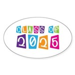 Colorful Class Of 2025 Oval Sticker