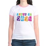 Colorful Class Of 2025 Jr. Ringer T-Shirt