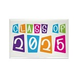 Colorful Class Of 2025 Rectangle Magnet