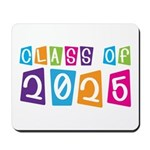 Colorful Class Of 2025 Mousepad