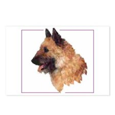 Cute Belgian laekenois dog Postcards (Package of 8)