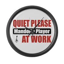 Mandolin Player Work Large Wall Clock