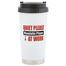 Mandolin Player Work Travel Mug