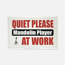 Mandolin Player Work Rectangle Magnet