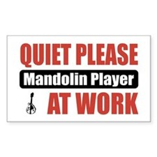 Mandolin Player Work Rectangle Decal