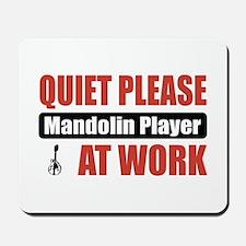 Mandolin Player Work Mousepad